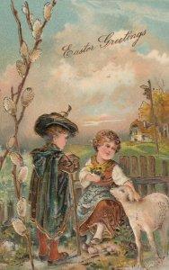 EASTER ; Kids & Lamb , 1907 ; PFB 6782