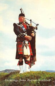 Greetings from Bonnie Scotland Traditional Folk Kilt Bagpipe