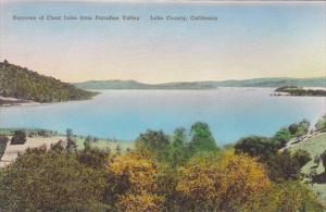 California Lake County Narrows Of Clear Lake From Paradise Valley Handcolored...