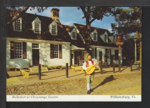 Balladeer at Chownings Tavern,Williamsburg,VA Postcard