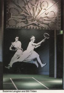 Suzanne Lenglen Bill Tilden Tennis Champion Wimbledon Museum Exhibition Postcard