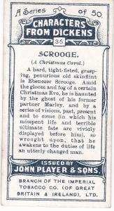 Cigarette Cards Players Characters From Dickens No 35 Scrooge