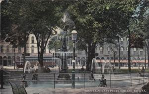 ERIE, Pennsylvania, PU-1916; Fountain, East Perry Square
