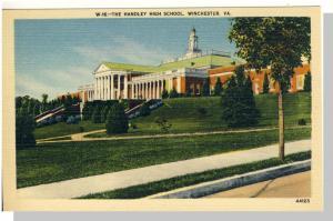 Winchester, Virginia/VA Postcard,Handley High School,Nr Mnt!