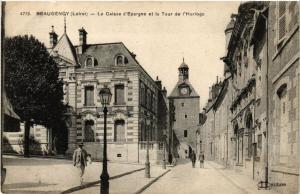 CPA BEAUGENCY La Caisse d'Epargne et la Tour de l'Horloge (607414)