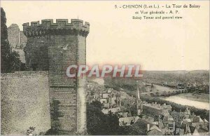 Old Postcard Chinon I and The Tour de Boissy and General view