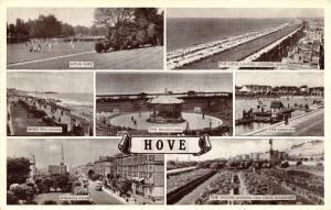 Vintage 1955 Postcard Hove, Sussex Multiview #H
