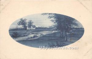 Water Scene Cochecton Center NY 1913