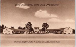 SOAP LAKE, WA Washington  SOAP LAKE MOTEL  1944  Roadside   Postcard