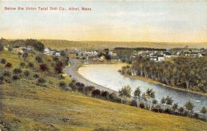 Athol Massachusetts Birds Eye View below Union Twist Drill Co~River~Houses~c1910