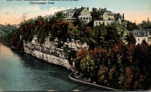 Tennessee Chattanooga Bluff View Looking East From Tennessee River Bridge 191...