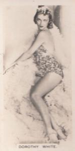 Dorothy White Hollywood Actress Rare Real Photo Cigarette Card