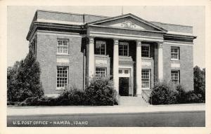 Nampa Idaho~Doors Propped Open at US Post Office~1950 B&W Postcard