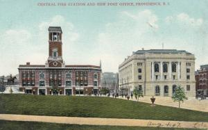 PROVIDENCE , Rhode Island , 1900-10s ; Fire Station & Post Office