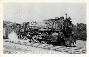 Missouri Pacific Railroad #1560 2-8-2 Steam Loco RPPC PC