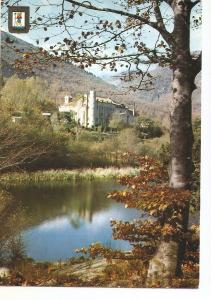 Postal 037787 : Santa Fe del Montseny (Barcelona). Lago y Hotel