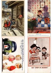 CHILDREN ENFANTS MOSTLY ARTIST SIGNED ILLUSTRATEUR 100 CPA (PART 8.)