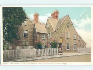 Unused Divided-Back HOUSE OF SEVEN GABLES Salem - Near Boston MA d1106