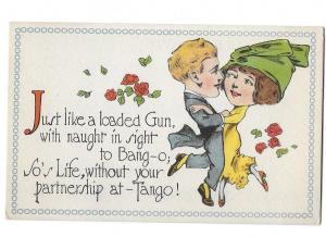 Comic Big Headed Couple Dancing the Tango #3