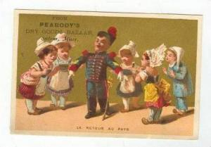 TC,Girls Admiring Toy Soldier In Uniform,1880-90s