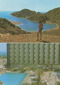 Eilat Coral Sea Hotel Israel & Camera 2x Postcard