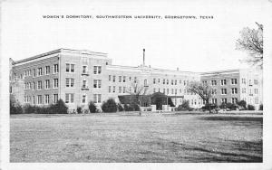 Georgetown Texas~Southwestern University~Women's Dormitory~1930s B&W Linen PC