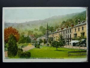 Derbyshire MATLOCK BATH Promenade & Heights of Jacob c1904 Postcard