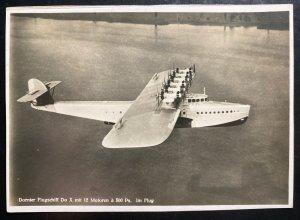 Mint Dornier DOX Giant Seaplane Real Picture Postcard RPPC In Flight