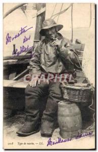 Postcard Old Fishing type marine