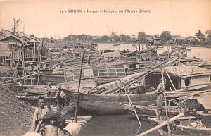 Saigon Vietnam, Viet Nam Jonques et Sampans sur l'Arroyo Chinois Saigon Jonqu...