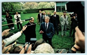 PRESIDENT JIMMY CARTER welcomes Egyptian PRESIDENT ANWAR SADAT 1977  Postcard