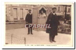 Le Mont Dore (Puy de Dome) Postcard Old Chaise carriers TOP