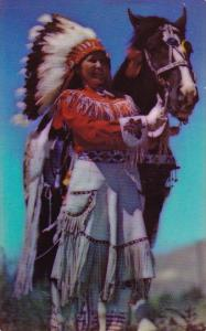 Indian Western Indian In Rodeo Costume Denver Colorado