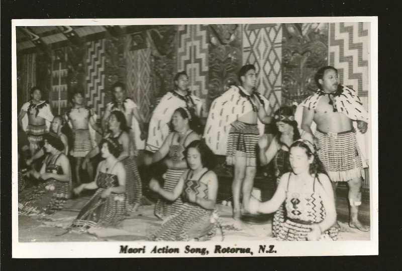 New Zealand Maori Action Song Rotoura NZ NS Seward Photo Postcard Unposted