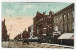 Dundas Street Woodstock Ontario Canada 1910 postcard