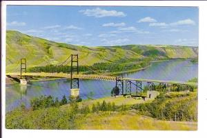Dunvegan Suspension Bridge, Peace River, Alberta,