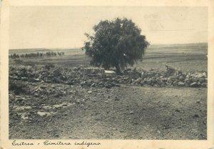 Post card Eritrea indigenous cemetery
