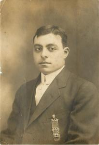 21-Year-Old Sully Again: Now He Shows Off His Fancy Fraternal? Ribbon c1913