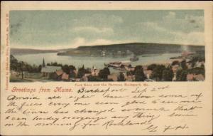 Bucksport ME Fort Knox & Narrows c1905 Postcard