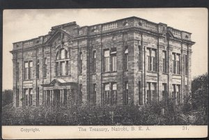 Kenya Postcard - The Treasury, Nairobi, B.E.A (British East Africa) - DC175