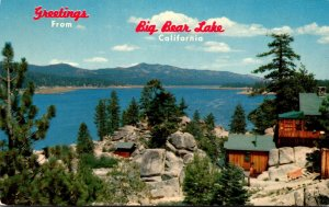 California Greetings From Big Bear Lake San Bernardino Mountains