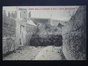 Vesuv Eruzione Del Vesuvio Where The Lava Was Stopped Neapel c1906 Selten Pc