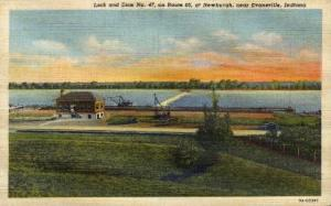 Lock and Dam No. 47 on Route 66 Evansville IN unused