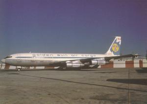 Golden Sun Air Cargo, Boeing 707-321C, unused Postcard
