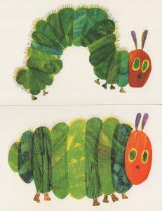 Hungry Caterpillar Climbing A Tree Strawberry 2x Eric Carle Book Postcard s