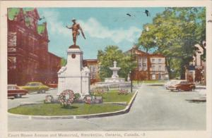 Canada Brockville Court House and Memorial 1955