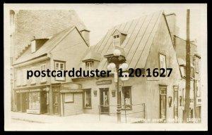 1627- QUEBEC CITY 1920s St. Louis Montcalm House. Real Photo Postcard by Edwards