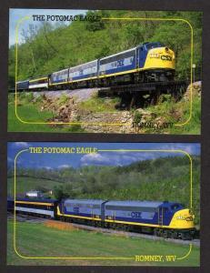 WV Lot 2 Potomac Eagle CSX Railroad Train Postcards Romney West Virginia RR PC