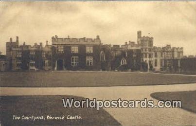 The COUrtyard Warwick Castle UK, England, Great Britain Unused