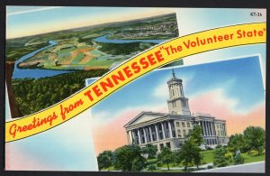 TENNESSEE SplitView Greetings from The Volunteer State Moccasin Bend Chrome